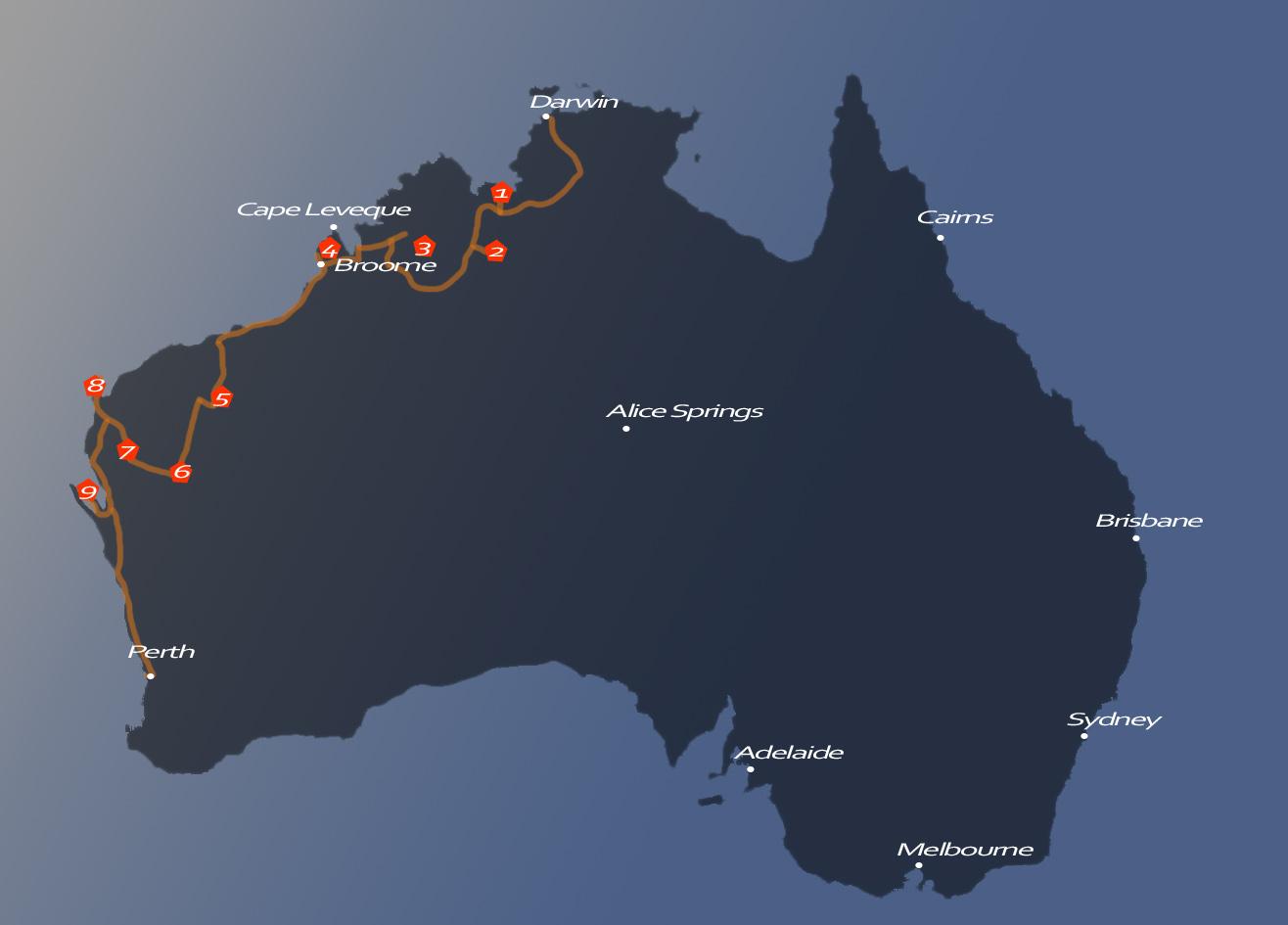 Australienmap_Darwin_Perth